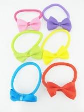 Pack of Six Colourful Bow Elastics