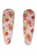 Pair of Pale Pink Floral Hair Clip Sleepies