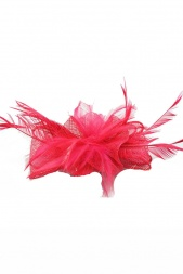 Pretty Pink Sinamay & Feather Clip Fascinator