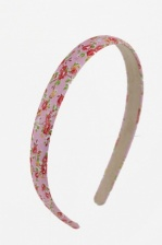 Pretty Pink & Floral Fabric Covered Aliceband