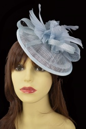 Pale Powder Blue Small Sinamay Fascinator