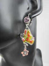 Pretty Butterfly and Flower Fashion Earrings