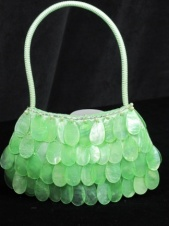 Pretty Green Capiz Shell Handbag