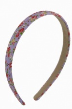 Purple & Pretty Floral Print Alice Band