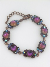 Purple Tone Delicate Sparkling Crystal Fashion Bracelet