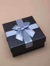 Quality Charcoal Grey and Ribbon Gift Box