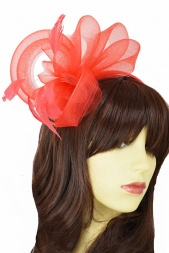 Red Crinoline Loop Hairband Fascinator