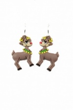 Fun Novelty Christmas Reindeer Earrings