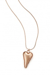 Long Rose Gold Heart Pendant Fashion Necklace