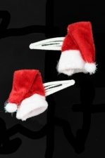 Pair of Santa Hat Christmas Hair Clip  Sleepies