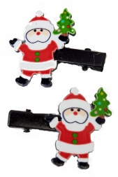 Pair of Santa Christmas Hair Clips