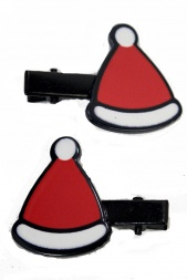 Pair fo Santa Hat  Christmas Hair Clips