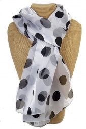 Vintage Style Polka Dot or Spot Silky Ladies Scarf