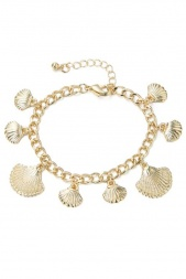 Gold Seashell Charm Fashion Bracelet