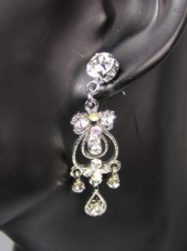 Silver and Crystal Fashion Earrings