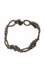 Silver/Grey Sparkling Bead Fashion Bracelet