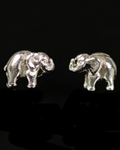 Sterling Silver Elephant Stud Earrings with Gift Box