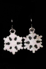 Sparkly Novelty Snowflake Earrings