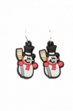 Novelty Snowman Christmas Earrings