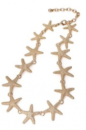 Gold Starfish Sea Themed Fashion Necklace