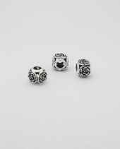 Sterling 925 Silver Rose Detail Charm Bead