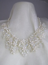 Fine Crystal and Freshwater Pearl Bridal Necklace