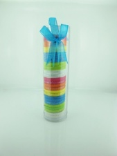 Tube of 45 Brightly Coloured Hair Elastics
