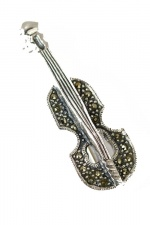 Sterling Silver & Marcasite Brooch with Gift Box