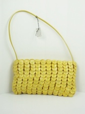Yellow Coco Rind Shoulder Bag with Sequins